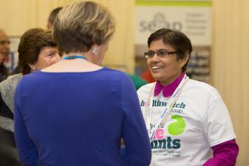 Volunteer speaking to local Healthwatch