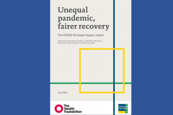 Image of front cover of Health Foundation Impact Inquiry Report