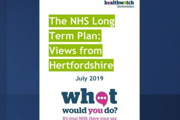 Healthwatch Hertfordshire's Long Term plan report