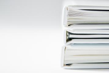 Three stacked folders